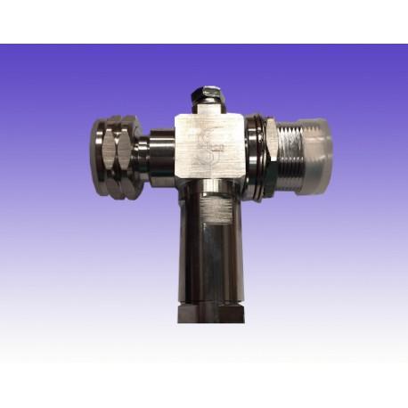 Descargador de Gas Conectorizado Din Macho-Din Hembra en T